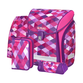 Ранец New Midi Plus Pink Cubes