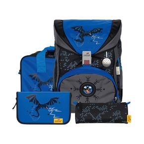 Ранец Ergoflex Exklusiv Superflash Синий дракон