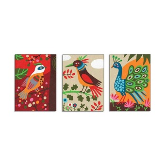Песочные картинки Райские птицы