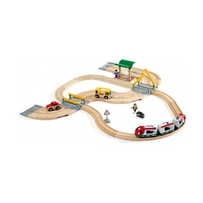 Железная дорога с переездом и станцией (33 элемента)