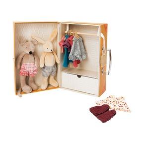 Чемоданчик-гардероб с мягкими игрушками