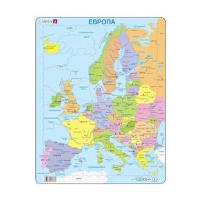 Пазл Политическая карта Европы (русский), 37 деталей