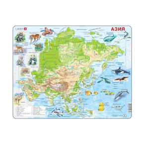 Пазл Азия (русский), 63 детали