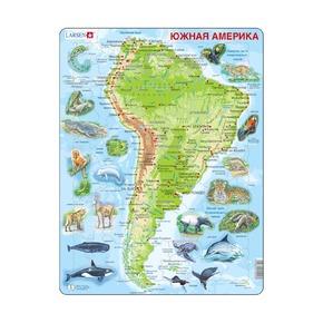 Пазл Южная Америка (русский), 65 деталей