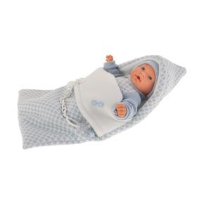 Кукла Мерсе в голубом в конверте, плачет, 27 см