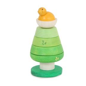 Пирамидка Зеленое дерево с птенцом