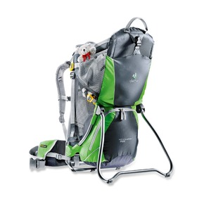Детская переноска Kid Comfort Air чёрно-зелёная