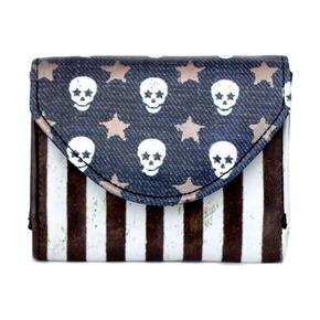 Визитница-кошелек Skull Flag