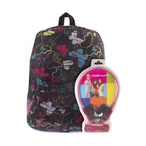 Рюкзак 3D Bags Радужные бабочки, с наушниками