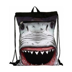 Сумка-рюкзак Shark Attack с капюшоном, черный мульти