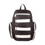 Рюкзак с креплением для скейтборда Flipside, черный/белый