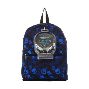 Рюкзак Mojo Blue Skull, с наушниками