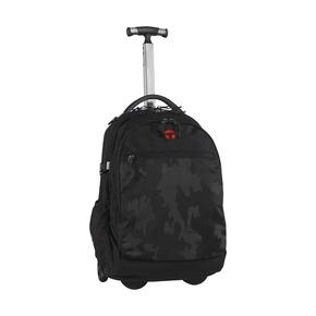 Рюкзак на колесах Барселона Камуфляж, чёрный