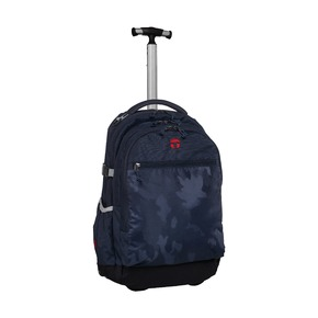 Рюкзак на колесах Барселона Камуфляж, синий